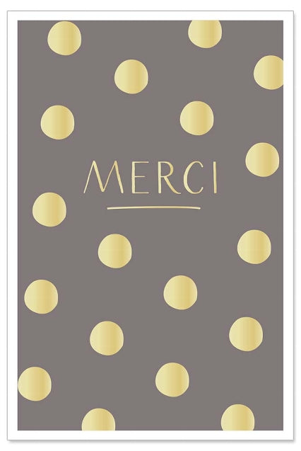 Greeting Card - All Occasions (Merci with Dots)