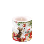 Candle SMALL - Kitten and Baubles - COLLECTION
