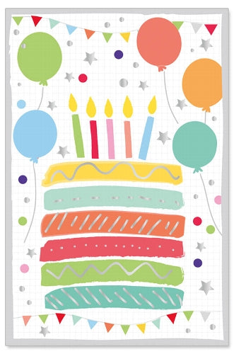 Greeting Card - Birthday (Birthday Cake & Balloons)