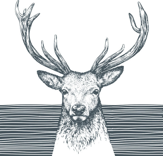 Lunch Napkin - Deer SLATE GREY