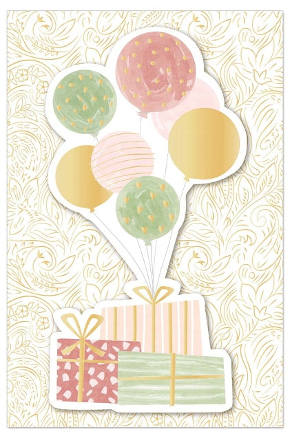 Greeting Card - Birthday (Presents and Balloons)