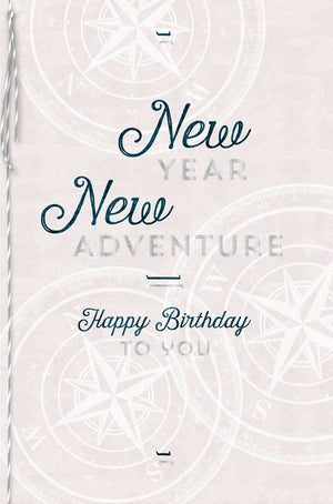 Load image into Gallery viewer, Greeting Card - Birthday (New Year - New Adventure)