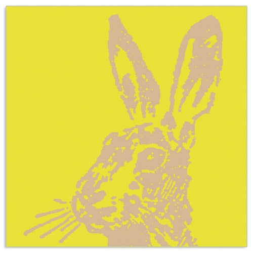 Lunch Napkin - Easter Bunny on YELLOW