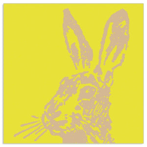 Load image into Gallery viewer, Lunch Napkin - Easter Bunny on YELLOW
