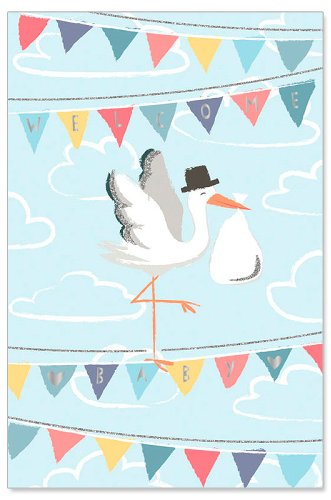 Greeting Card - Baby (Stork Delivery)