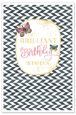 Greeting Card - Birthday Card (Brilliant Birthday Wishes)