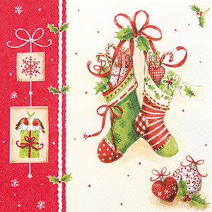 Cocktail Napkin - Xmas Stockings (Collection: LH611436)