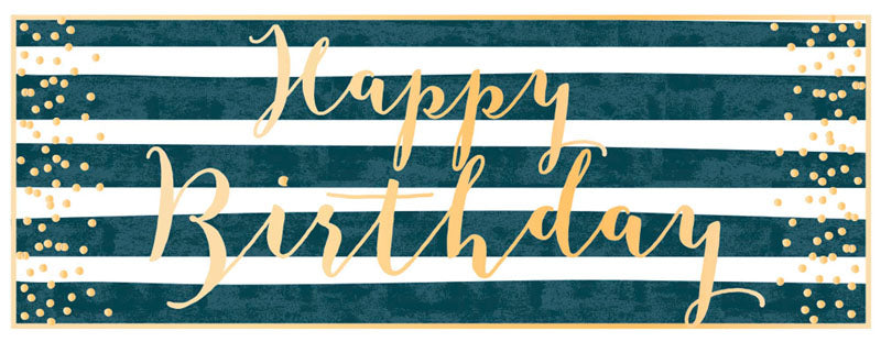 Load image into Gallery viewer, Greeting Card LONG - Birthday (Happy Birthday Stripes)