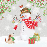 Lunch Napkin - Snowman Meet Friends