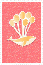 Greeting Card - Baby (Whale with Balloons)
