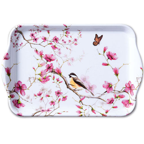 TRAY - Bird & Blossom WHITE (13 x 21 cm) - COLLECTION