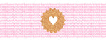 Greeting Card LONG - All Occasions (Gold Glitter Stamped Heart)