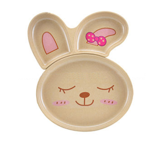 Rice Husk Collection - Husk Baby RABBIT Plate Collection (2 pc)