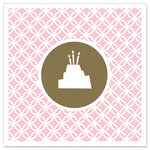 Greeting Card - Mini (Pink Birthday Cake)