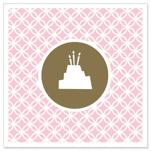 Load image into Gallery viewer, Greeting Card - Mini (Pink Birthday Cake)