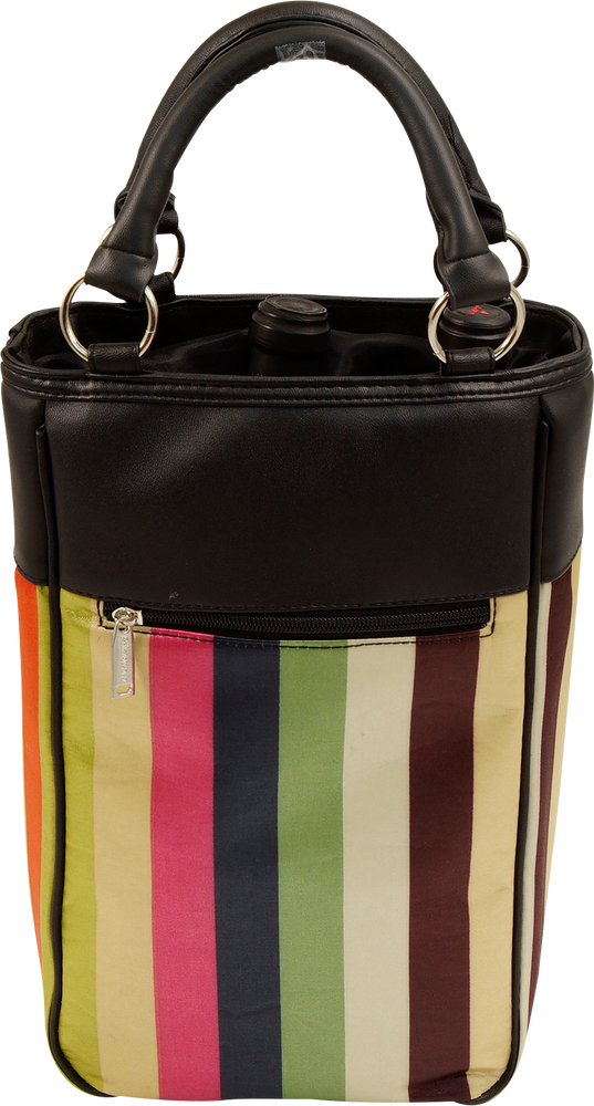 Wine Tote - STRIPES - 2 Bottle Wine Tote HARMONY