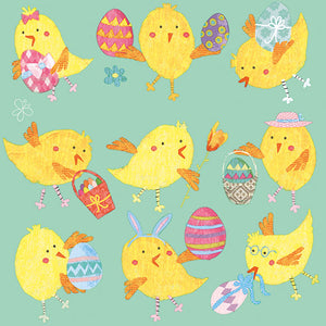 Load image into Gallery viewer, Lunch Napkin - Easter Chicks MINT (Collection: 22512786)