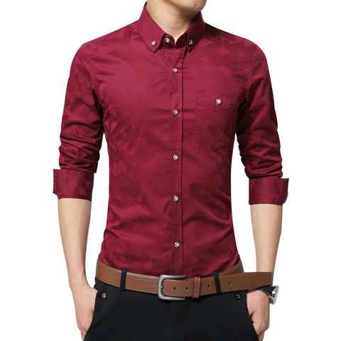 Hidden Shade Weave Slim Fit Shirt - uzoic