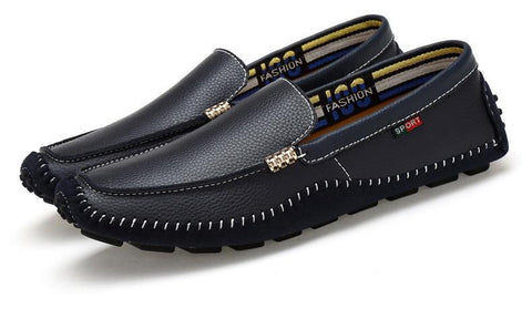 Italian Style Leather Loafers - uzoic