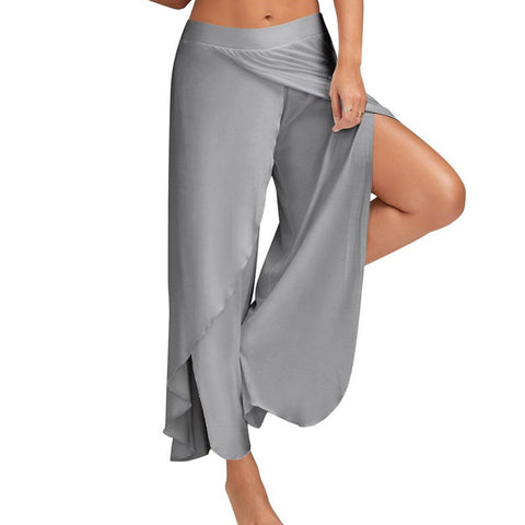 Smooth Lover Elastic Waist Pants - uzoic