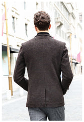 European Business Wool Coat - uzoic