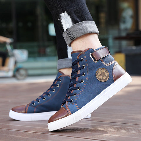 High Top Lace up Sneakers - uzoic