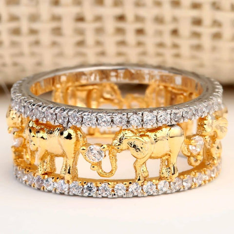 Limited Edition: Gold Elephant Ring