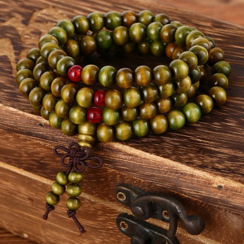 108 SandalWood Mala Bracelet/Necklace