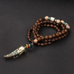 Ethnic Buddhist Tusk Necklace