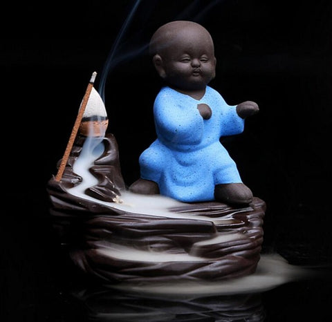 Monk Backflow Incense Burner
