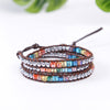 Image of Handmade Chakra Leather Wrap Bracelet