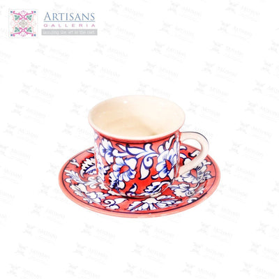 Hand Painted Cup and Saucers