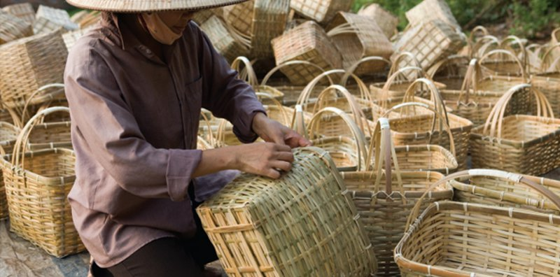 Plaited Bamboo Baskets