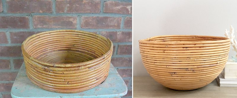 Coiled Bamboo Baskets