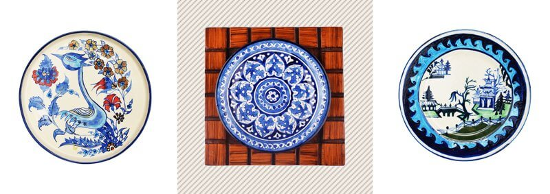 Blue Pottery Ceramic Wall Hanging