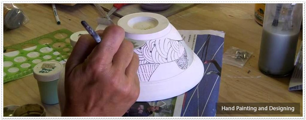 Designs of Blue Pottery