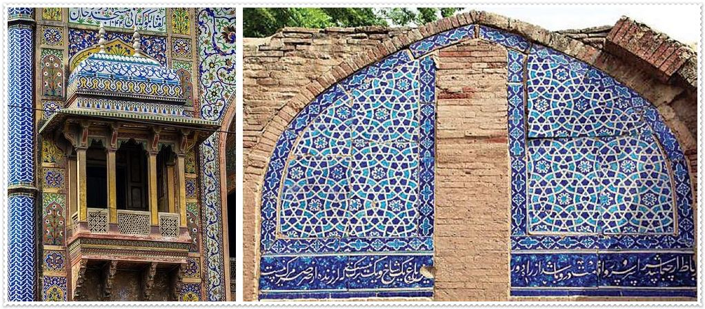 Blue Pottery in Pakistan and Subcontinent
