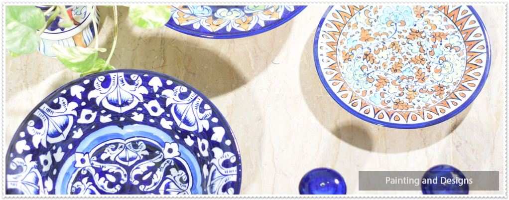 Painting and Designs Blue Pottery