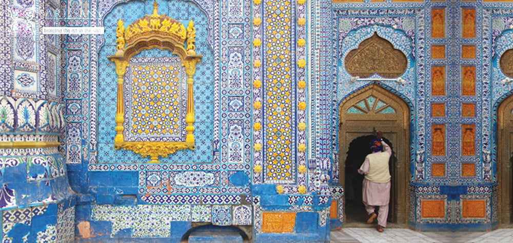 Multan Shrine Blue Pottery Artisans Galleria