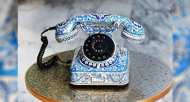 Telephone Case Blue Pottery