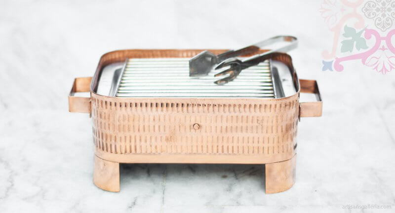 copper Grill for serving