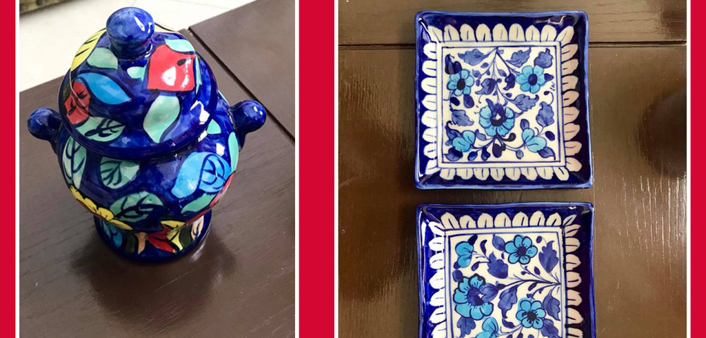 Maria Wasti uses Blue Pottery