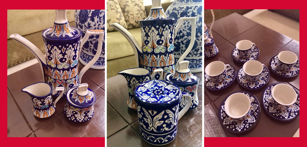 Maria Wasti Admires Blue Pottery of Multan
