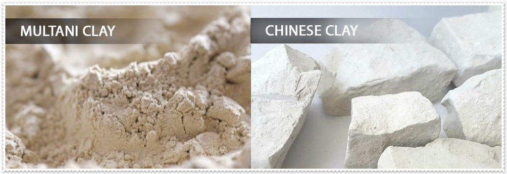 multani clay vs chinese clay