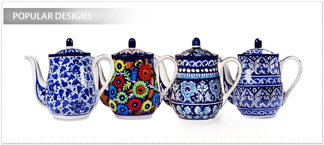 blue pottery teapot designs
