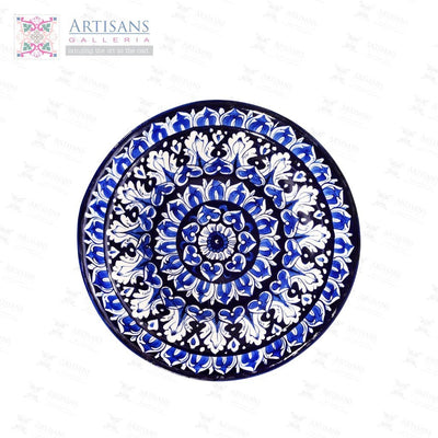 Blue Pottery Round Platters