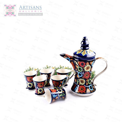 Blue Pottery Qahwa Sets