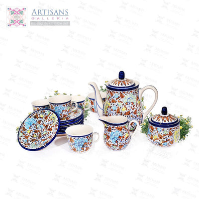 Blue Pottery Kitchen Accessories
