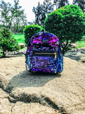 Sequined Bow Backpack