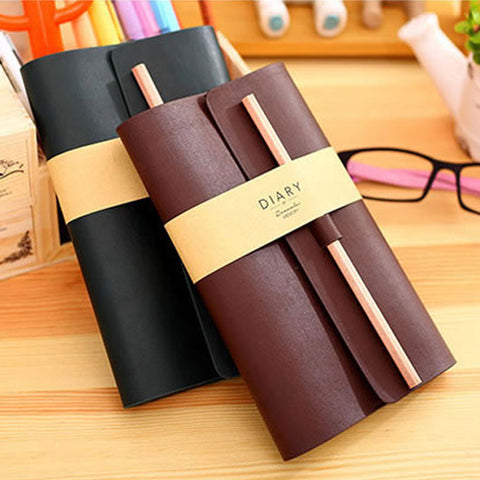 Leather Travel Journal & Memo Book